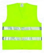 Жилет сигнальный зеленый, размер XL  (шт.)