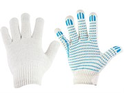 Перчатки Х\Б, 10 класс вязки, 4-х нитка, с ПВХ (шт.)