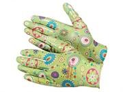Перчатки из полиэстера, садовые с полимерным покрытием ладони и пальцев, размер L (шт.)