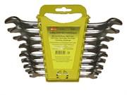 Набор ключей гаечных рожковых, углеродистая сталь, 8 предметов (Hobbi) (уп.)